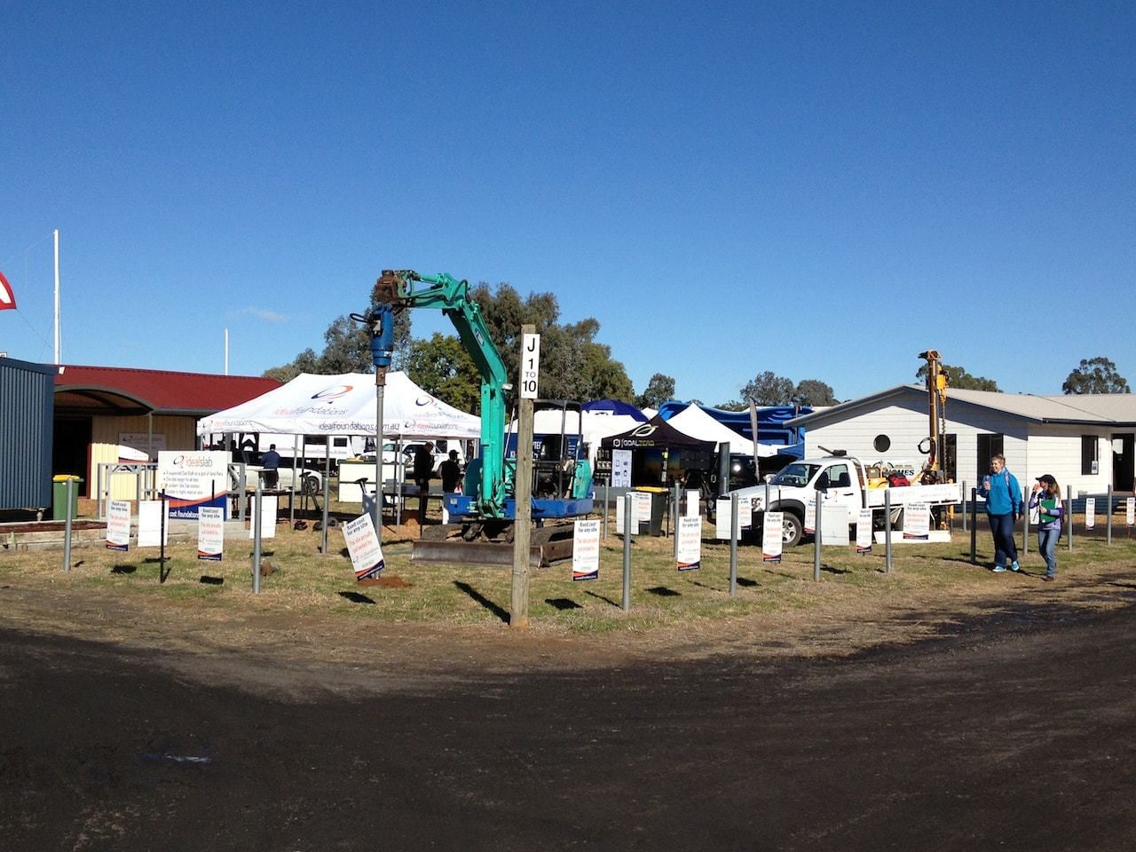 Ideal Foundations stand at Agquip Gunnedah, the largest Agricultural show in Australia